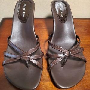 Gianni Bini slip on sandals with heel